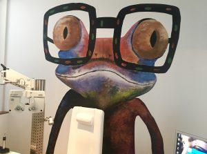 Kikker met bril
