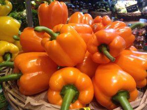 Oranje paprika's zijn goed voor je ogen.